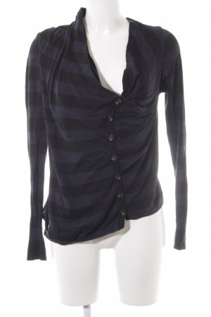 All Saints Cardigan schwarz-dunkelblau Streifenmuster Casual-Look