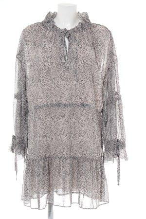 All Saints Robe chiffon noir-gris clair motif animal style décontracté