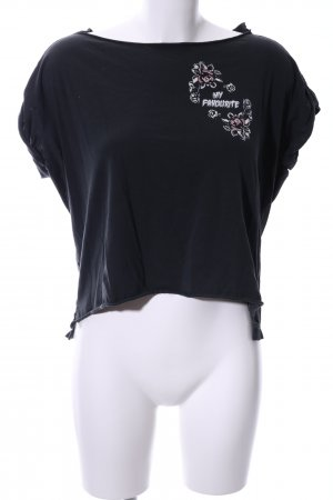 All Saints T-shirt court gris anthracite imprimé avec thème