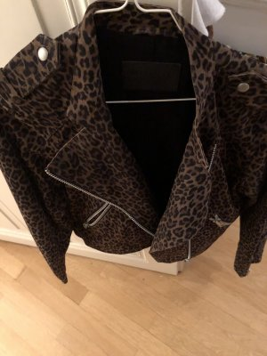 All Saints Dalby Wildleder Leopard Jacke