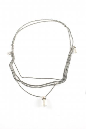 All Saints Necklace silver-colored extravagant style