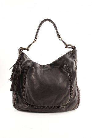 All Saints Bolsa Hobo marrón-negro look casual