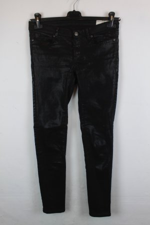 ALL SAINTS Hose Stoffhose Gr. 28 schwarz