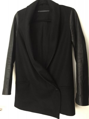 All Saints Jacke mit Lederärmel Gr. 34 - HOT DEAL