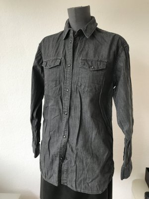 All Saints Jeans Hemd grau M /38