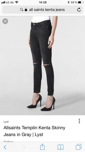 All Saints Jeans gris anthracite-noir
