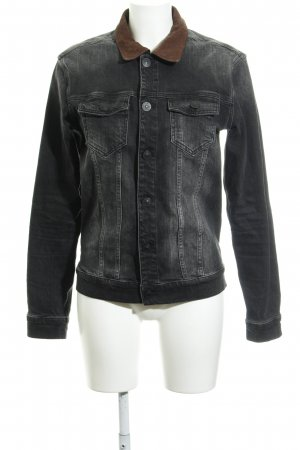All Saints Jeansjacke braun-schwarz Street-Fashion-Look