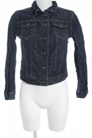 All Saints Jeansjacke dunkelblau meliert Street-Fashion-Look