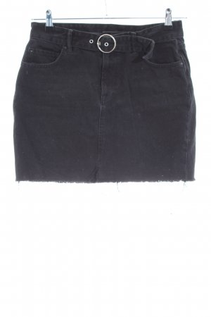 All Saints Jupe en jeans noir style décontracté