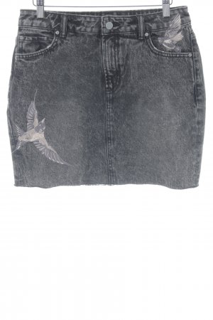 All Saints Jeansrock grau Casual-Look