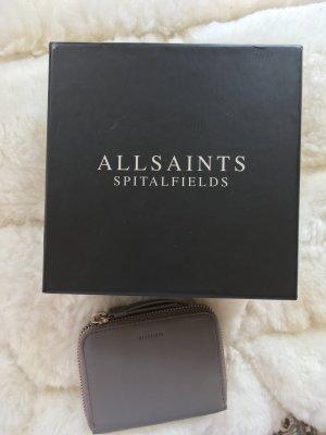 All Saints Portefeuille gris cuir