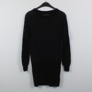 ALL SAINTS Kleid Gr. 38 schwarz Spitze Seide Wolle (18/10/261)