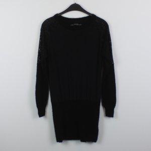 ALL SAINTS Kleid Gr. 38 schwarz Spitze Seide Wolle (18/10/261/E)
