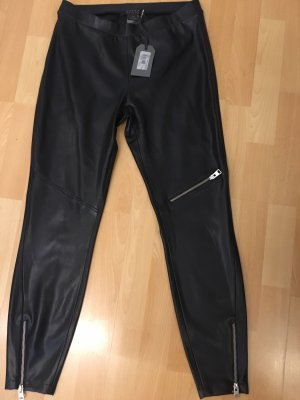 All Saints (Kunst) Leder-Bikerleggings NEU