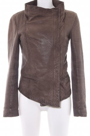 All Saints Lederjacke grüngrau Casual-Look