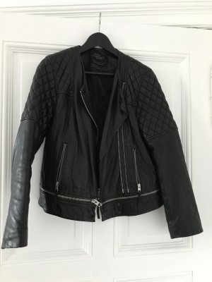All Saints Lederjacke schwarz