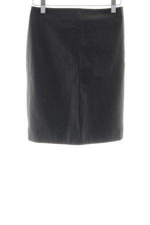 All Saints Jupe en cuir noir style d'affaires