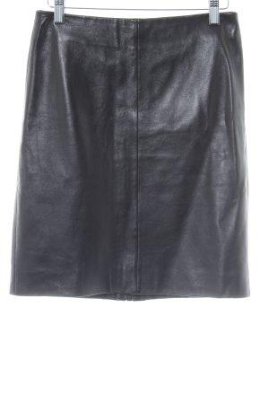 All Saints Lederrock schwarz klassischer Stil
