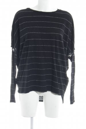 All Saints Longesleeve zwart-wit gestreept patroon casual uitstraling