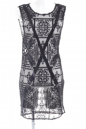 All Saints Midi Dress black abstract pattern party style