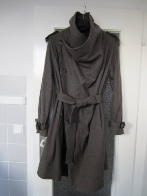 All Saints Cappotto in lana grigio scuro Lana