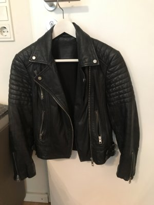 All Saints Papin Leder Bikerjacke