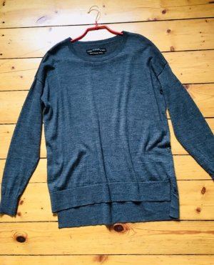 ALL SAINTS PULLOVER aus MERINO WOLLE, Gr.S, dunkelgrau
