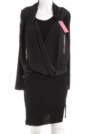 All Saints Robe tube noir style festif