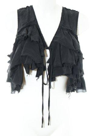 All Saints Seidenbluse schwarz Elegant