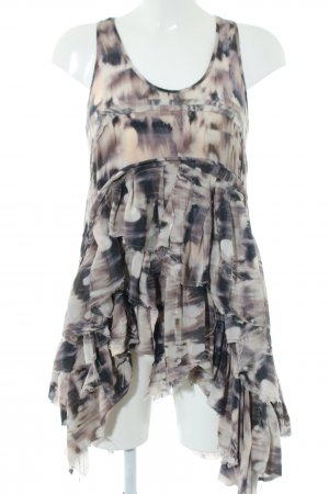 All Saints Silk Top allover print casual look
