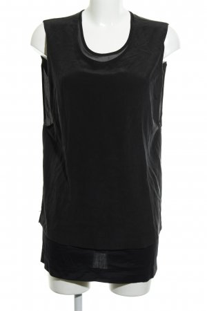 All Saints Top in seta nero stile professionale