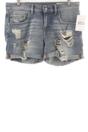 All Saints Shorts blau Used-Optik