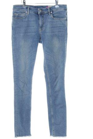 All Saints Skinny Jeans blau Washed-Optik