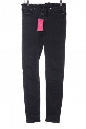 All Saints Skinny Jeans dunkelgrau-schwarz Casual-Look
