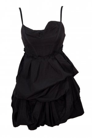 All Saints Spitalfields Asymmetrisches Kleid in Schwarz