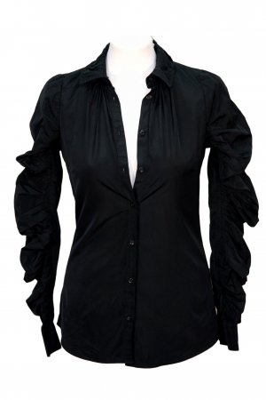 All Saints Chemise noir polyester