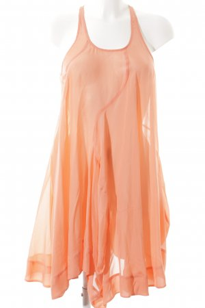 All Saints Strandkleid lachs Transparenz-Optik