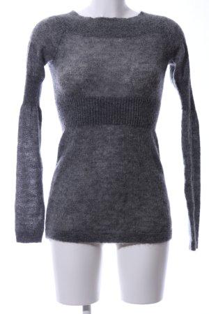 All Saints Robe en maille tricotées gris clair style décontracté