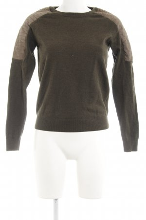 All Saints Strickpullover khaki Biker-Look