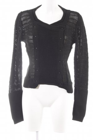All Saints Knitted Sweater black classic style