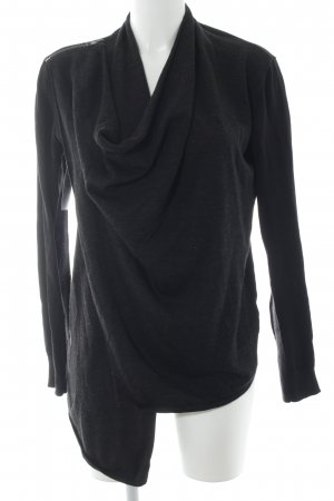 All Saints Strickweste schwarz-silberfarben Elegant