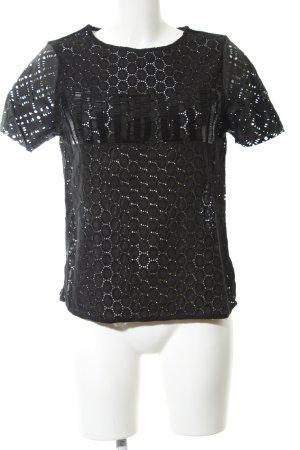 All Saints T-shirt noir lettrage imprimé style décontracté