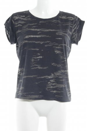All Saints T-Shirt anthracite-beige abstract pattern casual look