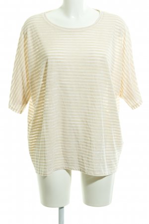 All Saints T-Shirt apricot-white striped pattern casual look