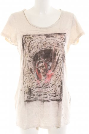 All Saints T-shirt wolwit-brons abstract patroon casual uitstraling