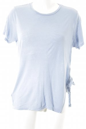 All Saints T-shirt bleu clair style minimaliste