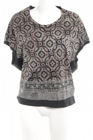 All Saints T-Shirt black-light brown graphic pattern casual look