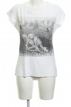 All Saints T-shirt bianco Stampa a tema stile casual