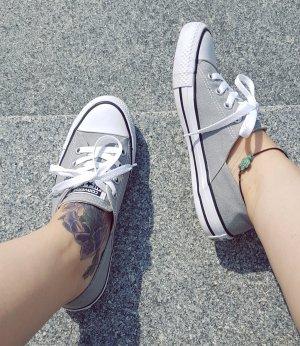 All Star Converse Chucks Coral grau hellgrau weiß Sneaker Ballerinas