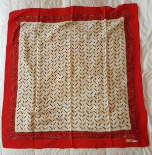 Celine Foulard brun sable-rouge soie